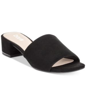 Bar Iii Jane Block-Heel Slide Sandals, Created for Macy