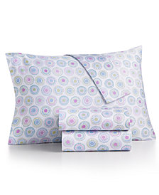 CLOSEOUT! bluebellgray 230 Thread Count Printed King Sheet Set