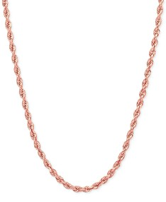 b6ff83f56 Rope Chain Necklace (2-1/2mm) in 14k Rose Gold