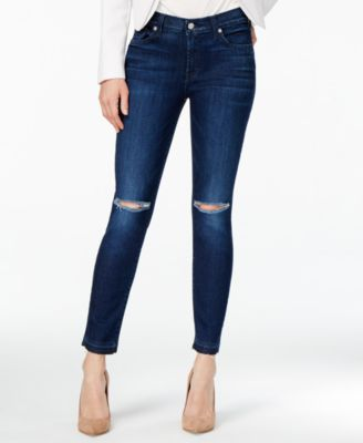 7 For All Mankind Ripped Skinny Jeans - Jeans - Women - Macy's