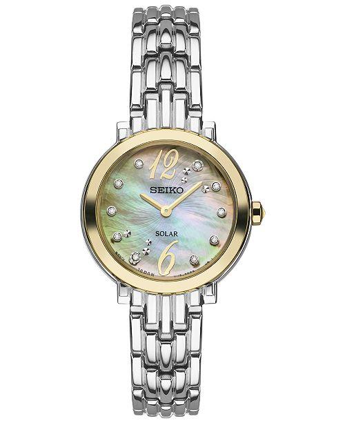 Women's Tressia Solar Diamond Accent Stainless Steel Bracelet Watch 23mm SUP354