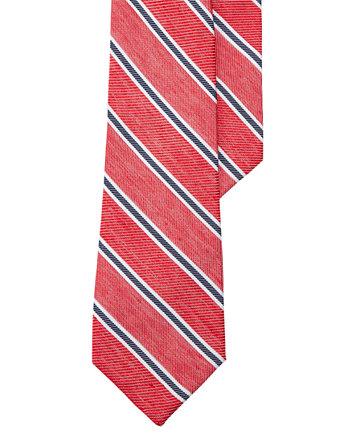 Image 1 of Lauren Ralph Lauren Men's Striped Red/Navy Twill Tie