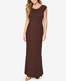 Isabella Oliver Maternity Cap-Sleeve Maxi Dress