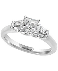 EFFY®  Infinite Love Diamond Engagement Ring (5/8 ct. t.w.) in 18k White Gold