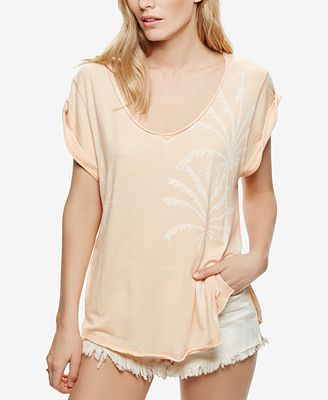 Free People V-Neck Graphic T-Shirt