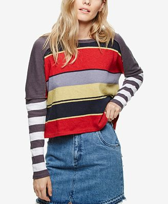 Free People Sunny Side Striped Sweater