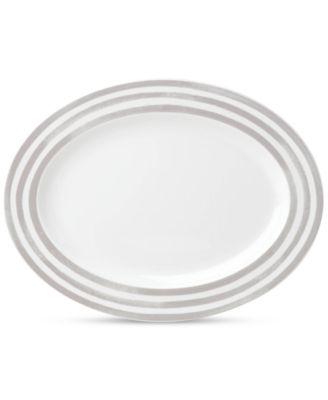 "Charlotte Street Grey 16"" Platter"