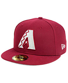New Era Arizona Diamondbacks Cardinal Gray 59FIFTY Cap