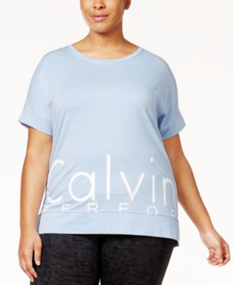 Calvin Klein Performance Plus Size Logo T-Shirt