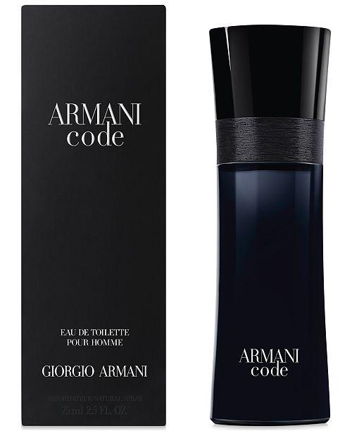9fc8c4ad27 ... Giorgio Armani Armani Code for Men Eau de Toilette Spray, 2.5 oz ...