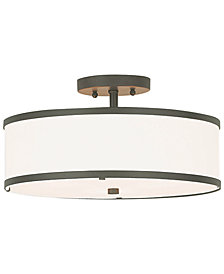 Livex Park Ridge Metal 15'' Semi Flush Ceiling Mount