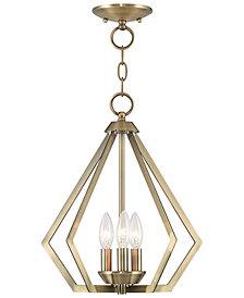 Livex Prism 3- Light Metal Mini Pendant