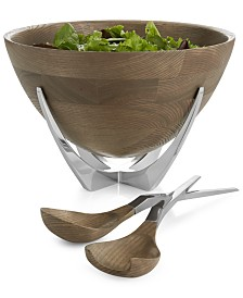 Nambé Cabo Collection Salad Bowl with Servers