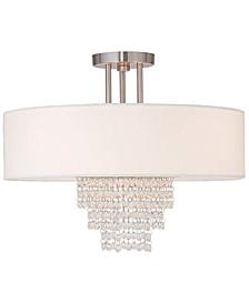 Carlisle 18'' Brushed Nickel Semi Flush