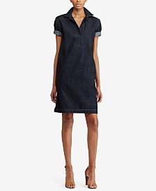 Lauren Ralph Lauren Petite Cotton Denim Shift Dress