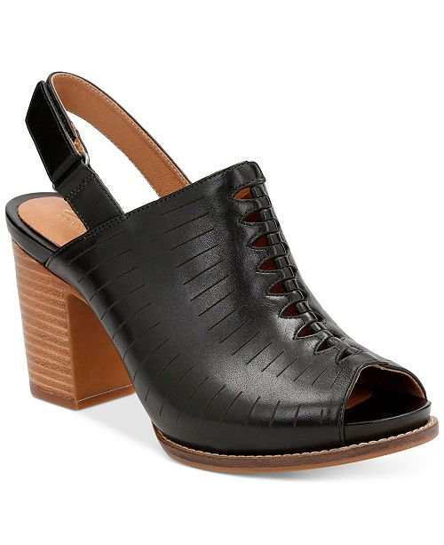 e459ae6f873 Clarks Women s Briatta Key Slingback Block-Heel Sandals   Reviews ...
