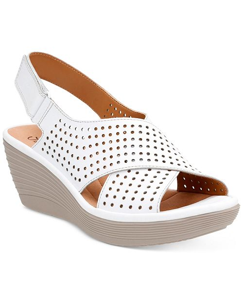 61ddd833453 Clarks Collection Women s Reedly Variel Wedge Sandals   Reviews ...
