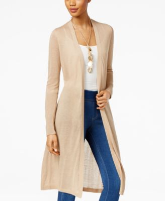 Alfani Linen Duster Cardigan, Only at Macy's - Women's Brands ...