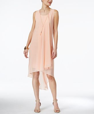 Thalia Sodi High-Low Necklace Shift Dress, Only at Macy's ...