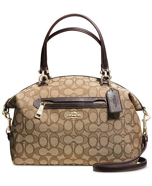 Coach In Canvas amp; Accessories Handbags Signature Satchel Prairie qqwHxrzO