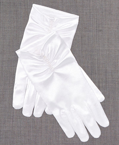 Blush By US Angels Gloves With Pearl Trim, Toddler, Little Girls & Big Girls