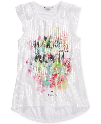 GUESS Sequin & Lace Tank, Big Girls (7-16)
