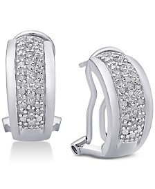 Diamond J-Hoop Earrings (1/4 ct. t.w.)