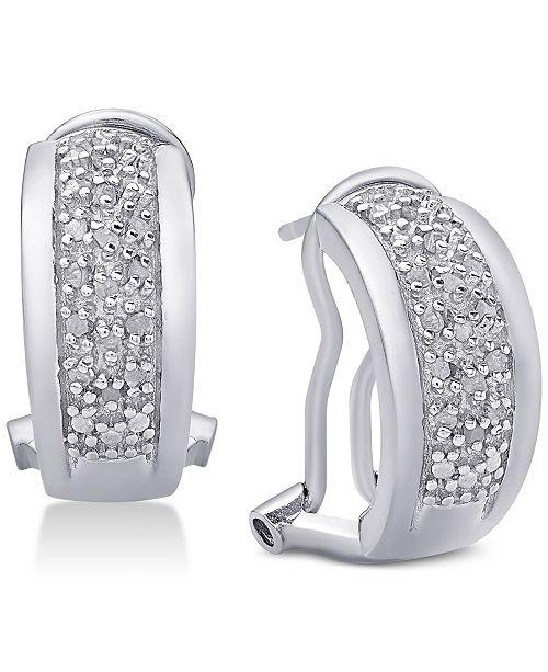 Victoria Townsend Diamond J-Hoop Earrings (1/4 ct. t.w.)