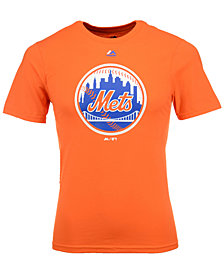 Majestic  New York Mets Primary Logo T-Shirt, Big Boys (8-20)