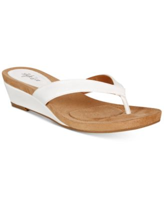 Image of Style & Co. Haloe2 Wedge Thong  Sandals, Only at Macy's
