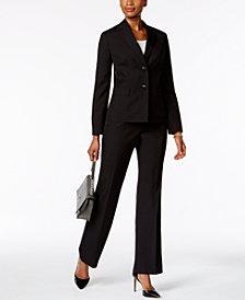 Le Suit Tonal Pinstripe Pantsuit