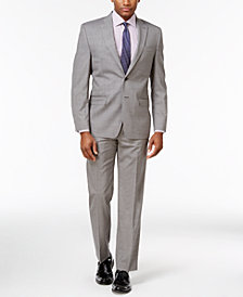 CLOSEOUT! Lauren Ralph Lauren Men's Classic-Fit Ultra-Flex Gray Sharkskin Suit Separates