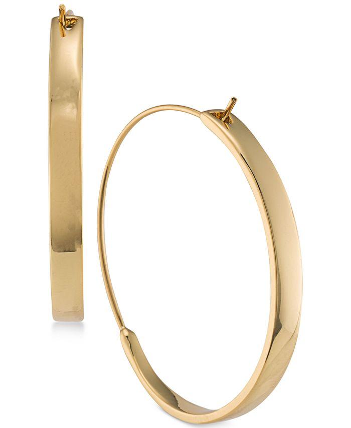 Lauren Ralph Lauren - Gold-Tone Hoop Earrings