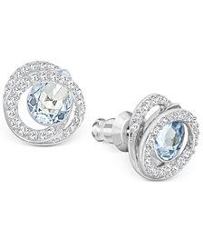 Swarovski Generation Silver-Tone Crystal Spiral Stud Earrings