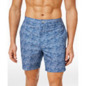 2 Calvin Klein Mens Wave-Print Swim Trunks