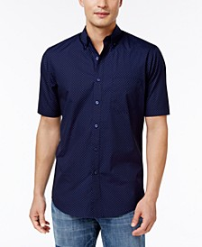 Men's Dot-Print Stretch Cotton Shirt
