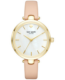 kate spade new york Women's Holland Vachetta Leather Strap Watch 34mm KSW1281