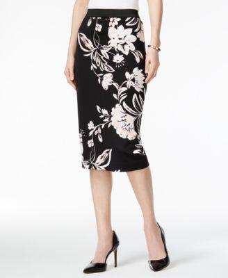 Printed Scuba Skirt, Created for Macy's
