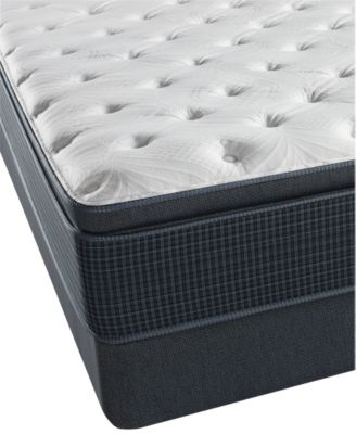 "Golden Gate 13.75"" Plush Pillow Top Mattress Set- Twin"