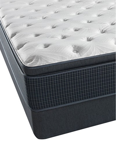 Beautyrest Silver Riverway 13.75 Plush Pillowtop Mattress Set- Queen