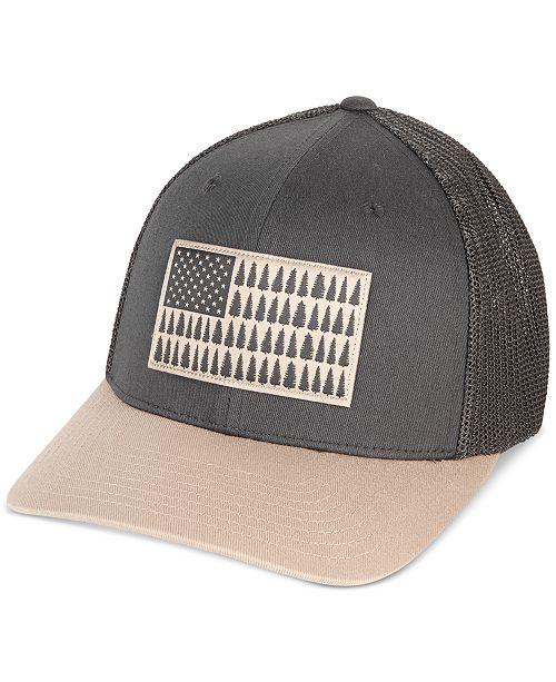 1558b56b30ecea Columbia Men's Tree Flag Mesh FlexFit Cap & Reviews - Hats, Gloves ...