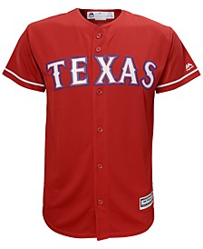 Texas Rangers Blank Replica Jersey, Big Boys (8-20)