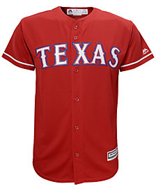 Majestic Texas Rangers Blank Replica Jersey, Big Boys (8-20)