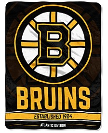 "Boston Bruins Micro Raschel 46x60 ""Break Away"" Blanket"
