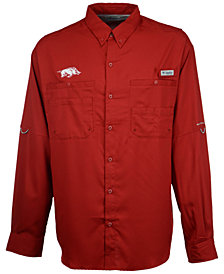 Columbia Arkansas Razorbacks NCAA Men's Tamiami Long Sleeve Button Down Shirt