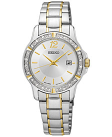 Seiko Women's Two-Tone Stainless Steel Bracelet Watch 28mm SUR718