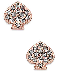 kate spade new york Pavé Signature Spade Stud Earrings