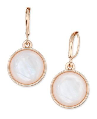 Image of Charter Club Round Stone Drop Earrings, Only at Macy's