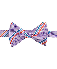 Countess Mara Men's Decker Stripe Pre-Tied Bow Tie