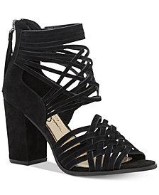 Jessica Simpson Reilynn Huarache Crisscross Block-Heel Sandals